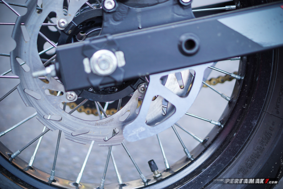 Disc Guard Honda CRF150L Modifikasi Supermoto