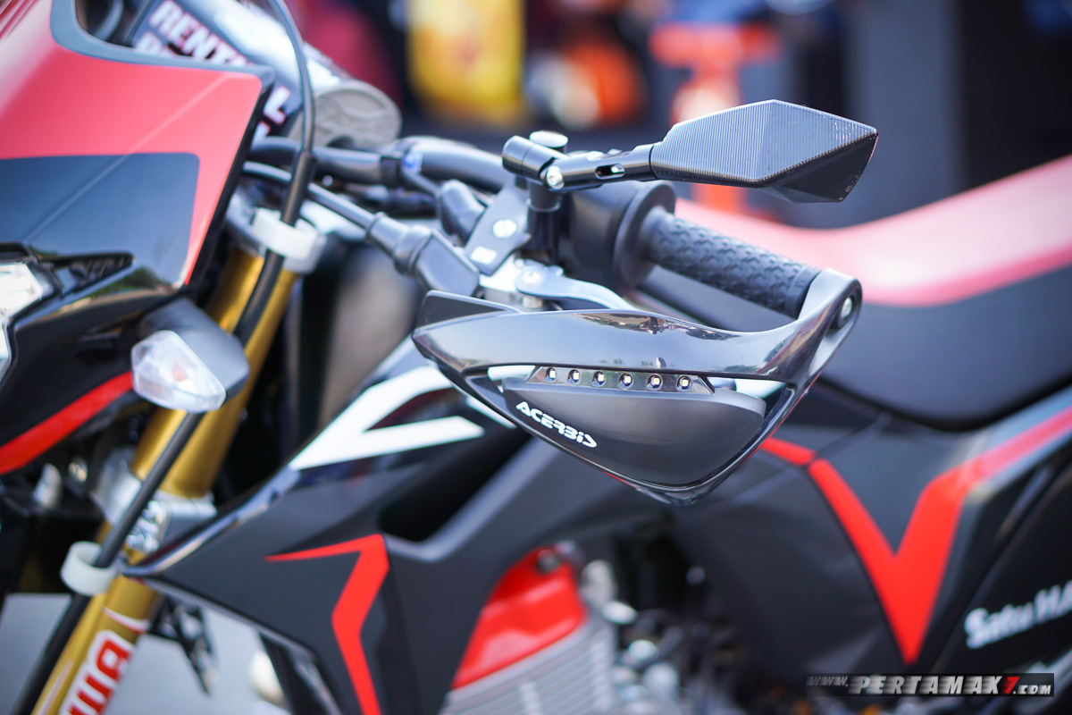 Hand Guard Acerbis Kiri Honda CRF150L Modifikasi Supermoto