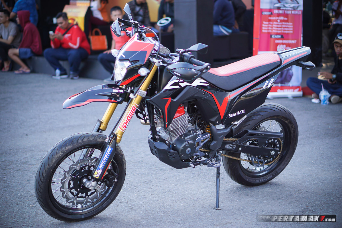 Intip Modifikasi Honda CRF150L Supermoto By AHM, Gambaran