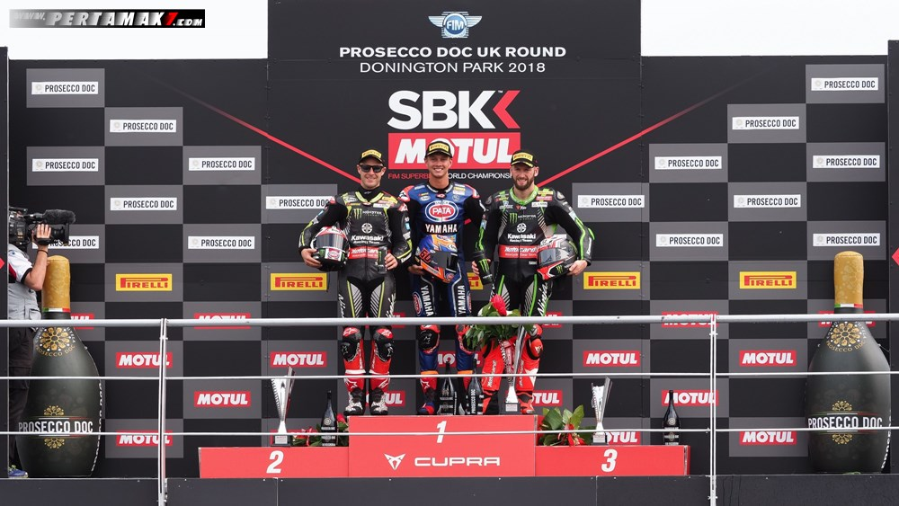 Podium Race 1 WSBK Donington Park UK 2018 P7