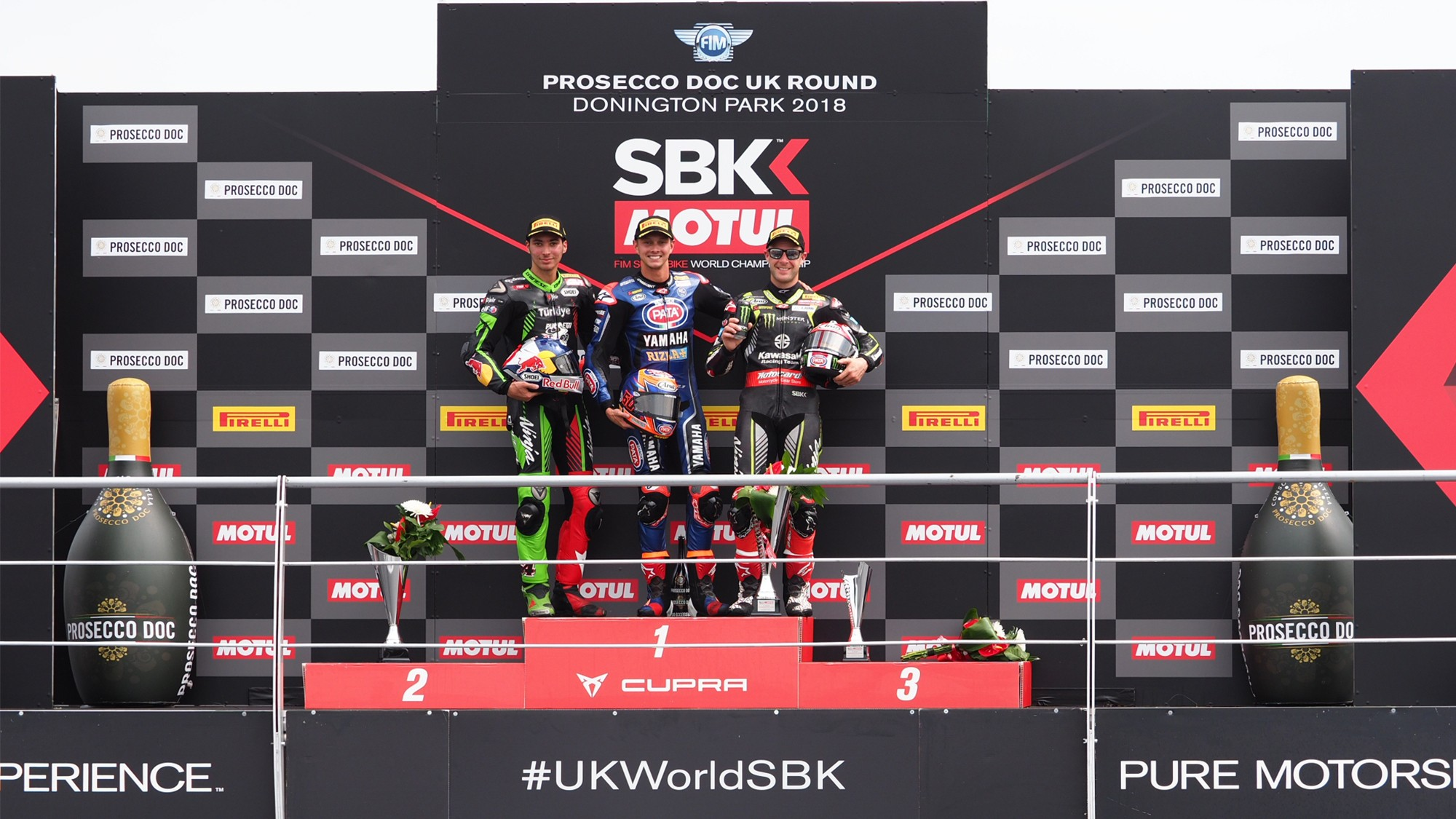 Podium Race 2 WSBK Donington Park 2018