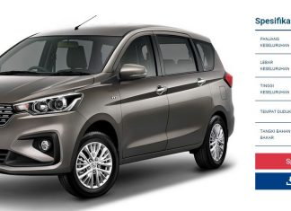 Spesifikasi Suzuki All New Eritga 2018