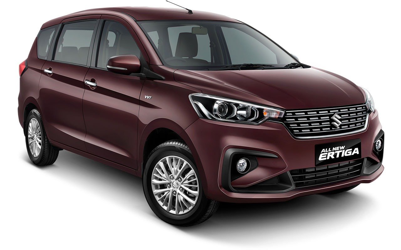 Suzuki All new Ertiga 2018 Warna ungu Pearl Burgundy Red