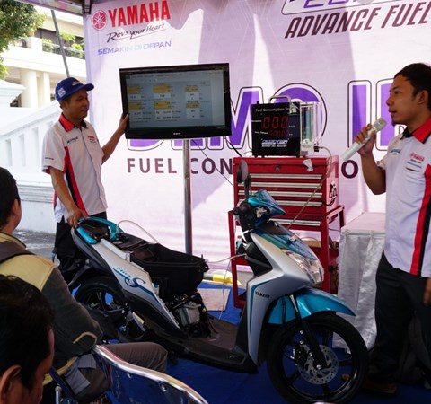 Demo irit Mio S di event Blue Core Yamaha Motor Show (BYMS)