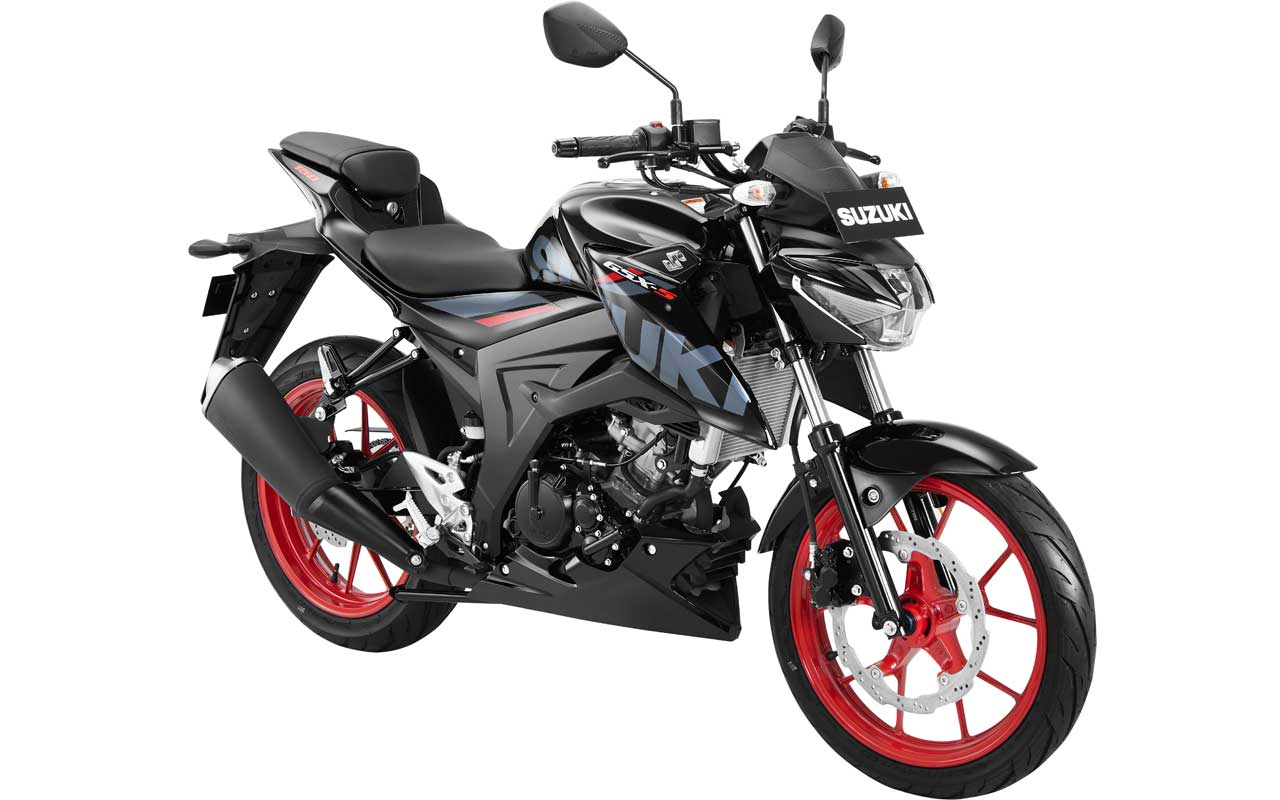Suzuki GSX-S150 Warna Hitam TITAN BLACK CW ROUGE RED