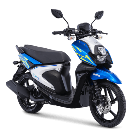 Yamaha All New X-Ride 125 versi 2018 Warna biru Dynamic Blue