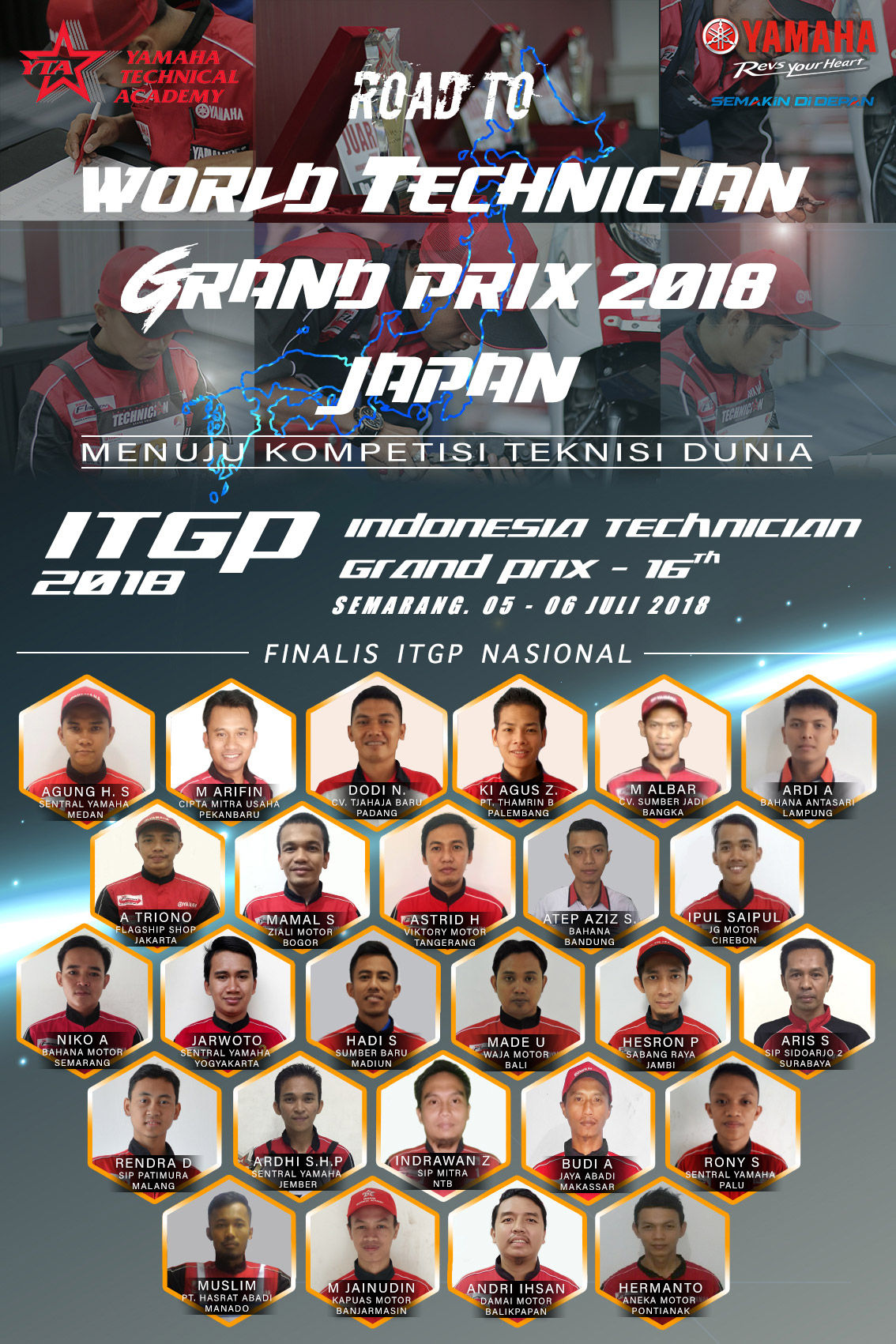 Finalis Indonesia Technician Grand Prix 2018