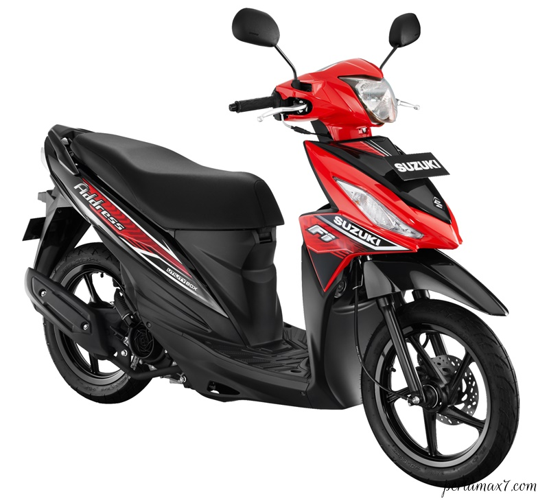 Make Up Suzuki Address FI Warna Baru STRONGER RED-TITAN BLACK p7