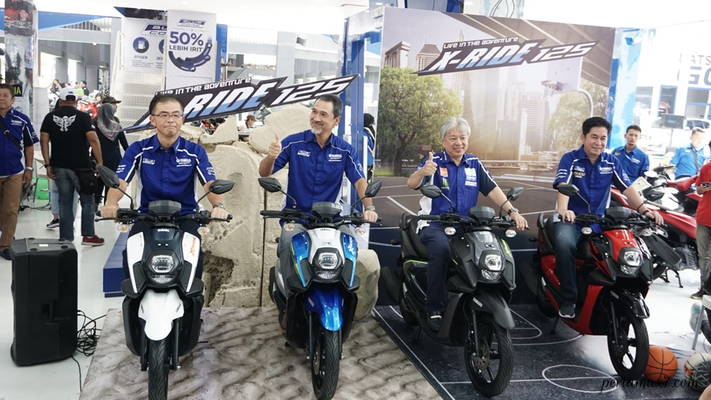 Management PT Yamaha Indonesia Motor Manufacturing (YIMM) dalam launching All New X-Ride 125 terbaru yang Stylish