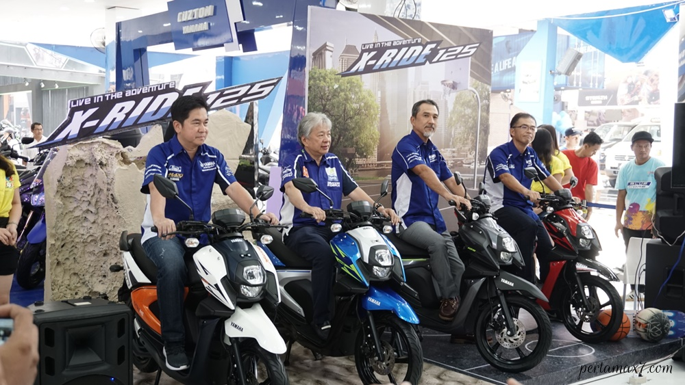 Management PT Yamaha Indonesia Motor Manufacturing dalam launching All New X-Ride 125 terbaru yang Stylish