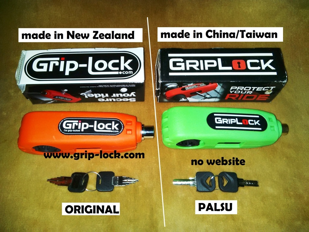 Perbandingan Grip-Lock Original VS Grip-Lock Palsu