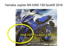 ban depan Yamaha jupiter mx king facelift 2018