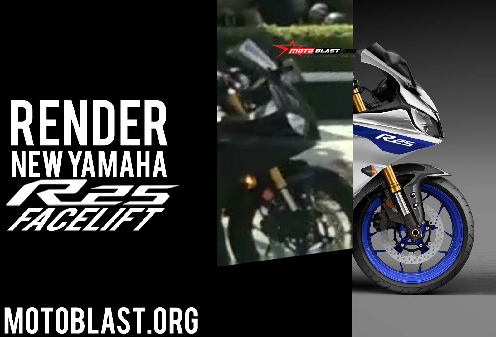 Headlamp Render Yamaha All New R25 Ala MotoBlast