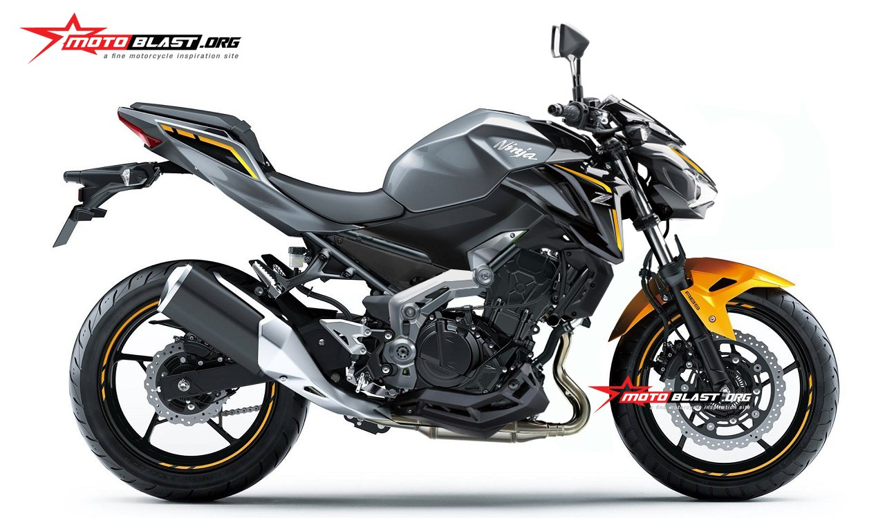 Kawasaki All New Z250 MY2019 render Motoblast