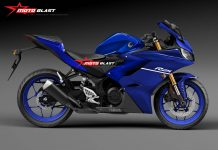 Render Yamaha All New R25 Ala MotoBlas Biru