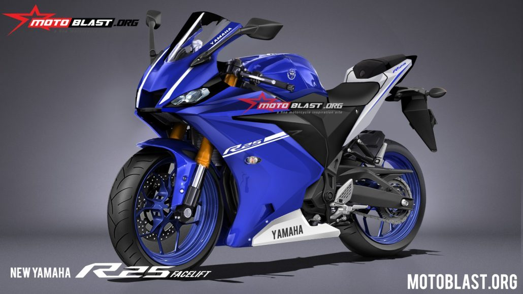 Render Yamaha All new R25 Upside Down Gold