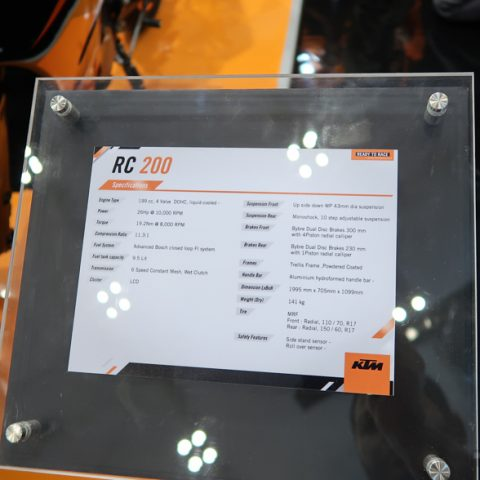Spesifikasi New KTM RC200 Back In Black Indonesia P7-8