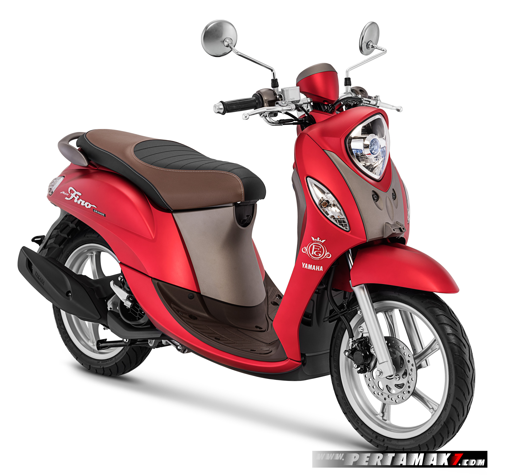 Warna Baru Yamaha Fino Grande Luxury Red versi 2018