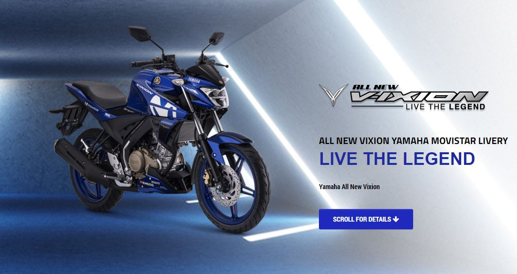 Yamaha All new Vixion Movistar MotoGP 2018 Last Edition LIve The Legend
