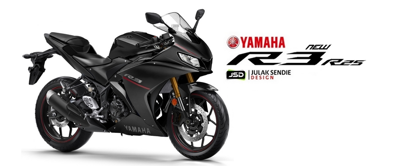 All New R25 R3 Facelift 2019 Black Render