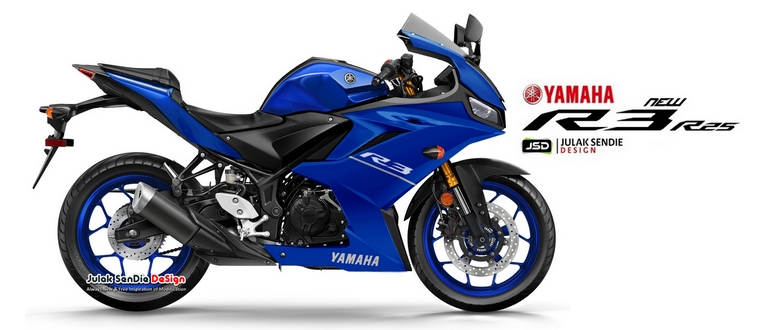 All New R25 R3 Facelift 2019 race Blue Render