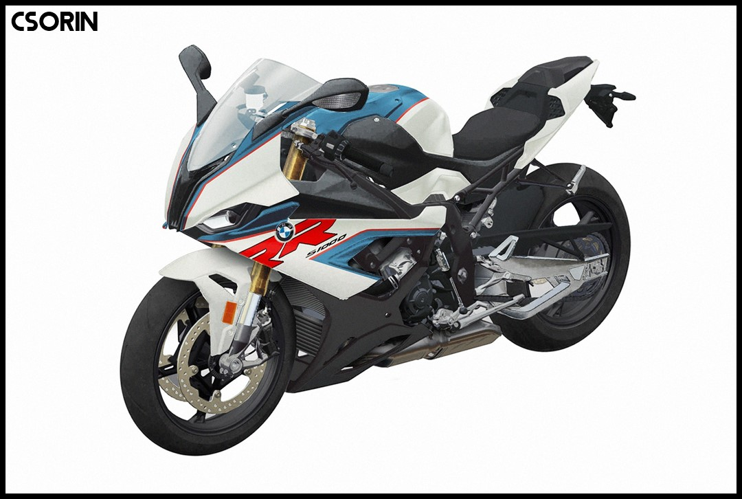 Desain BMW S1000RR Versi 2019 Warna Light White Lupin Blue Metallic Racing Red P7
