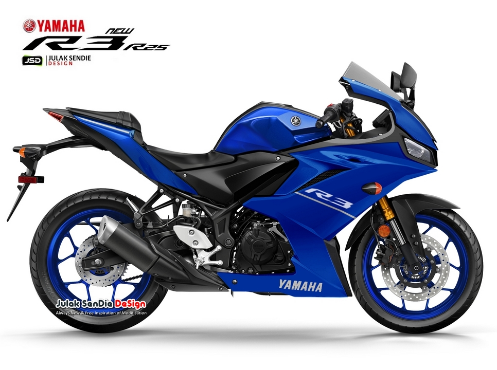 Gambaran Yamaha All new R25 R3 Biru Facelift 2019