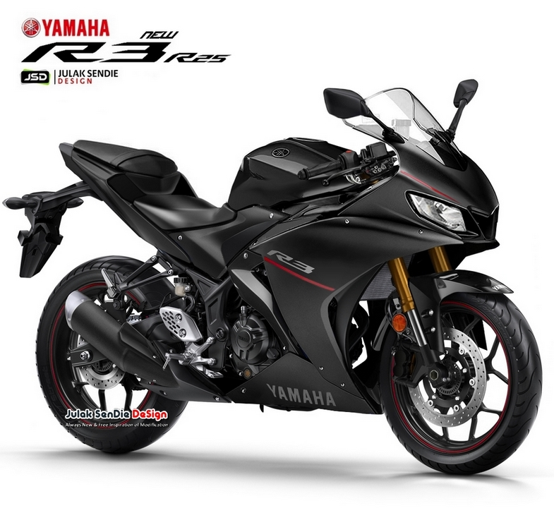 Gambaran Yamaha All new R25 R3 Facelift 2019