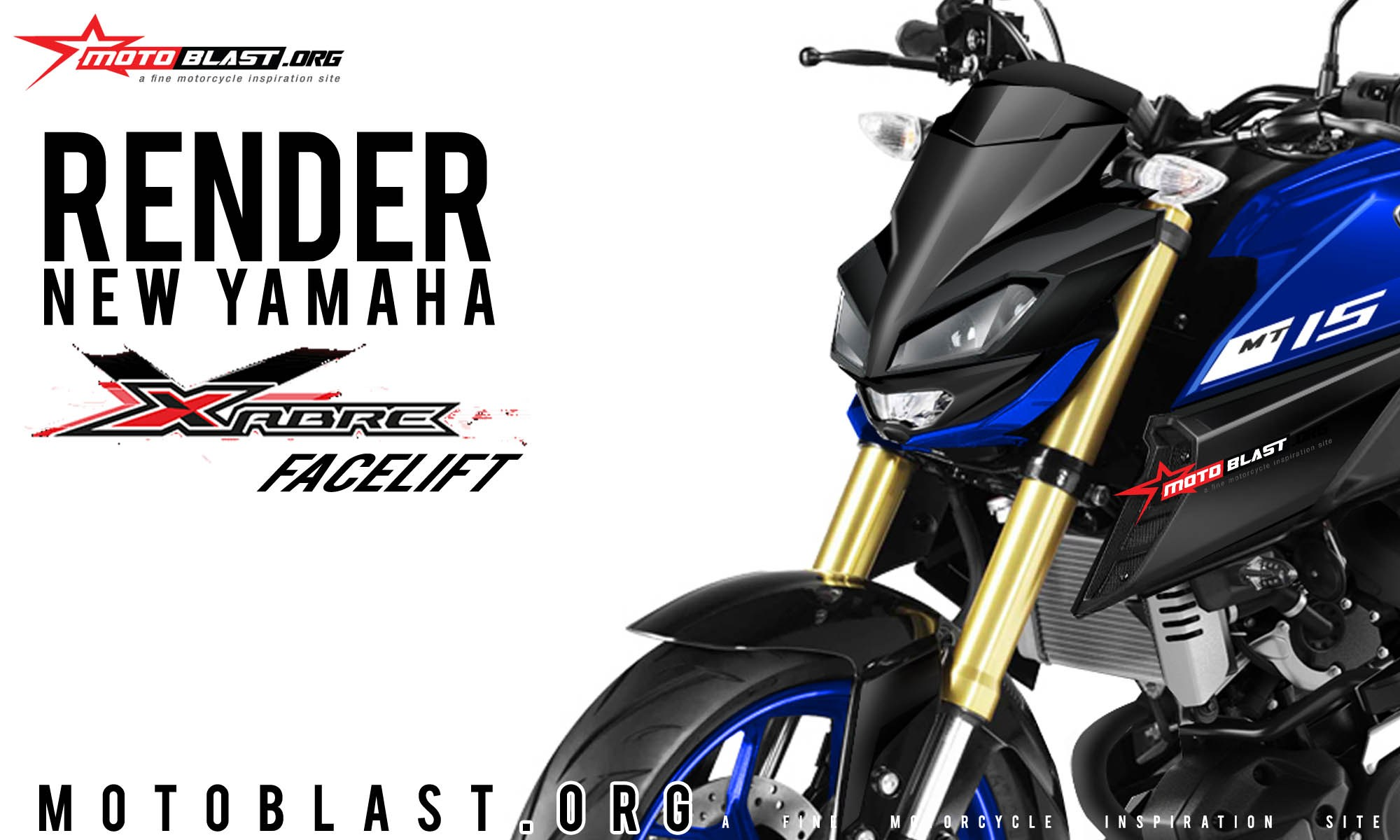 headlamp all new yamaha xabre facelift 2019 - pertamax7