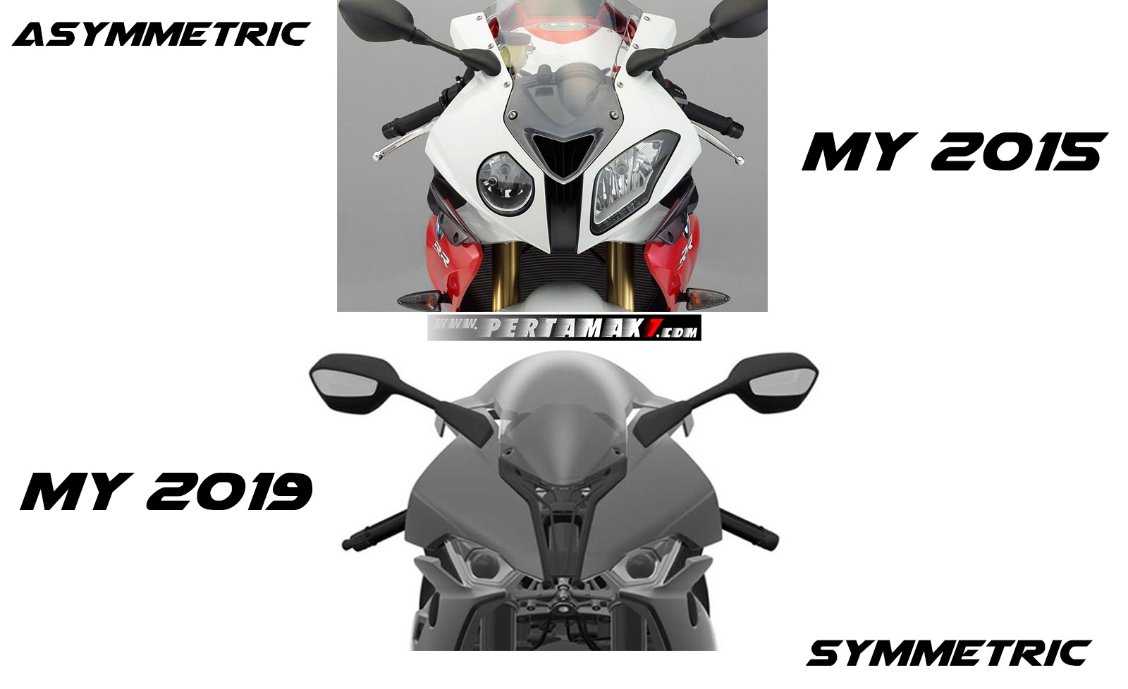 Headlamp BMW S1000RR MY 2015 VS 2019