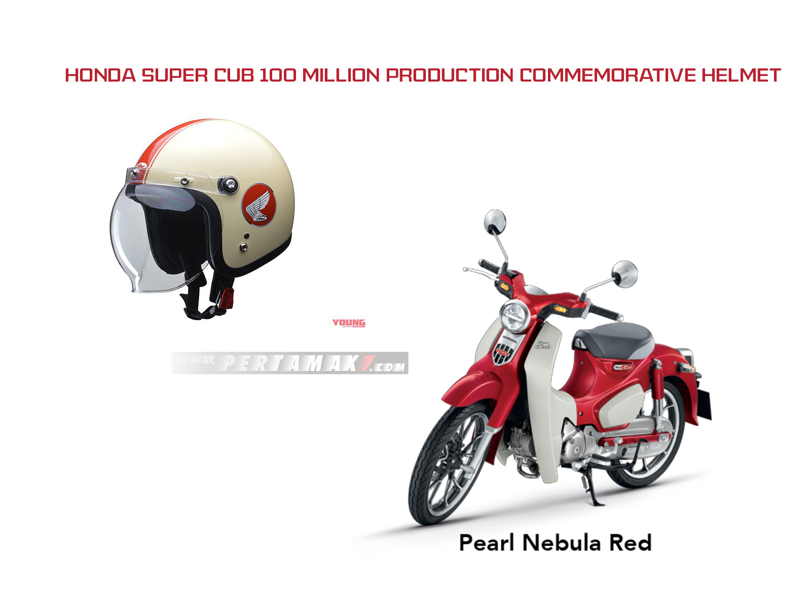 Helm Honda Super Cub Edisi Spesial Red