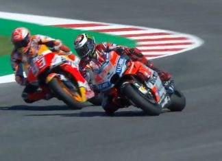 Side By Side Lorenzo VS Marquez MotoGP Misano 2018