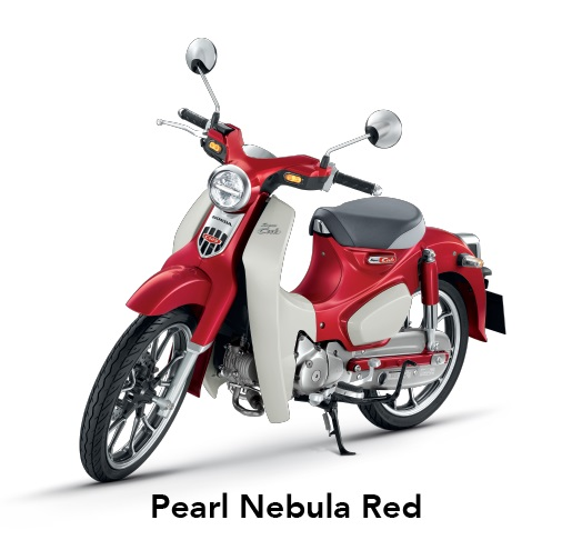 Warna Honda Super Cub C125 Indonesia merah pearl nebula red