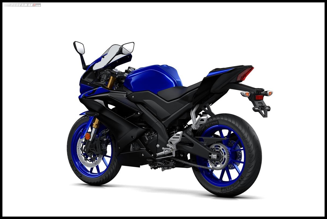 Yamaha All New R125 MY 2019 Warna Biru Yamaha Blue Belakang Kiri P7