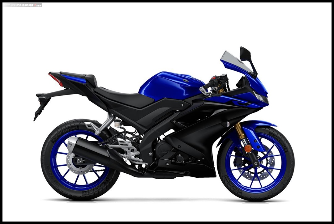 Yamaha All New R125 MY 2019 Warna Biru Yamaha Blue Tampak Kanan P7