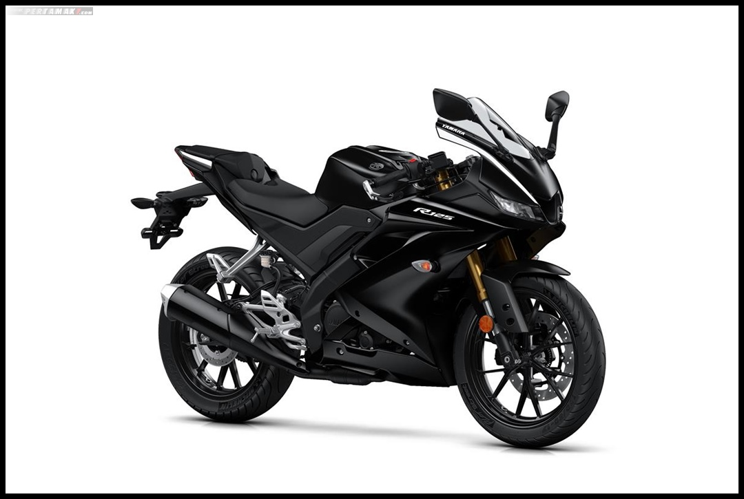 Yamaha All New R125 MY 2019 Warna Hitam Tech Black Depan Kanan Pertamax7