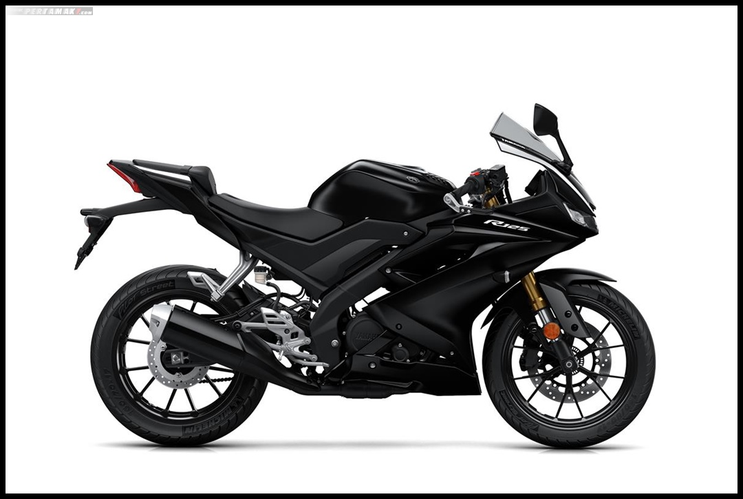 Yamaha All New R125 MY 2019 Warna Hitam Tech Black Tampak Kanan P7