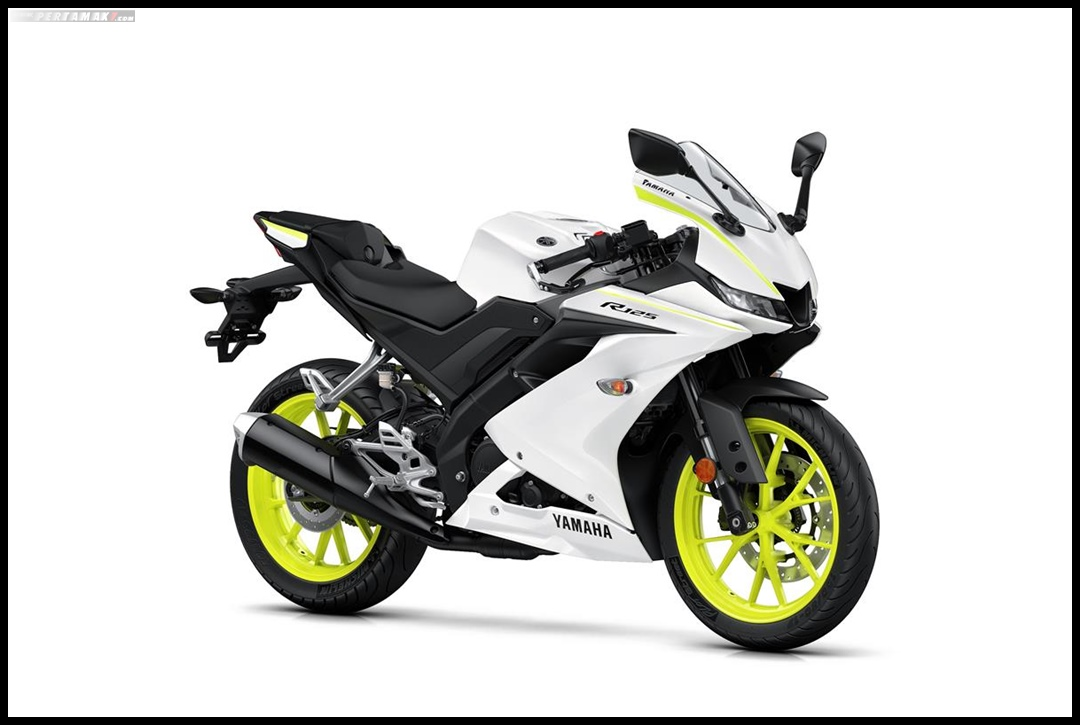Yamaha All New R125 MY 2019 Warna Putih Competition White Depan Kanan Pertamax7