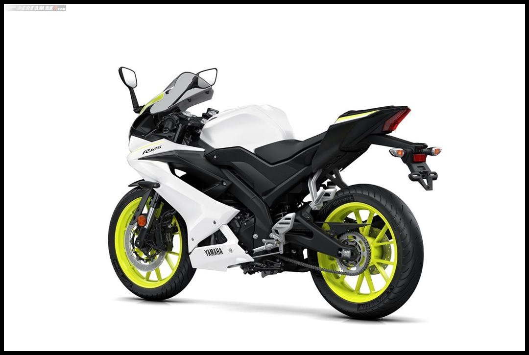 Yamaha All New R125 MY 2019 Warna Putih Competition White belakang Kiri Pertamax7