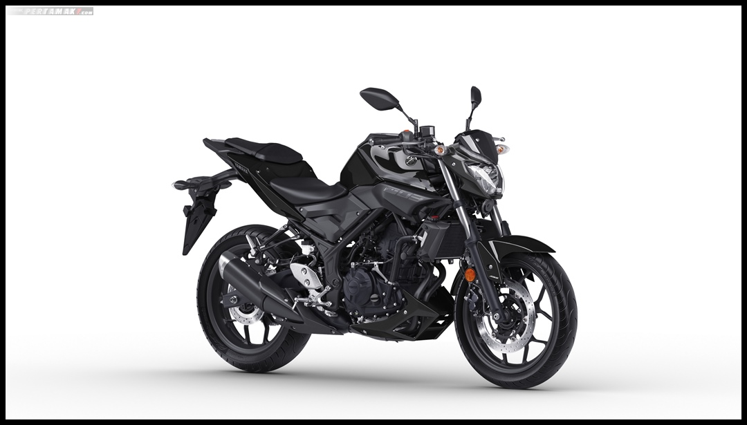 Yamaha MT03 MY2019 Eropa Warna Midnight Black Hitam P7