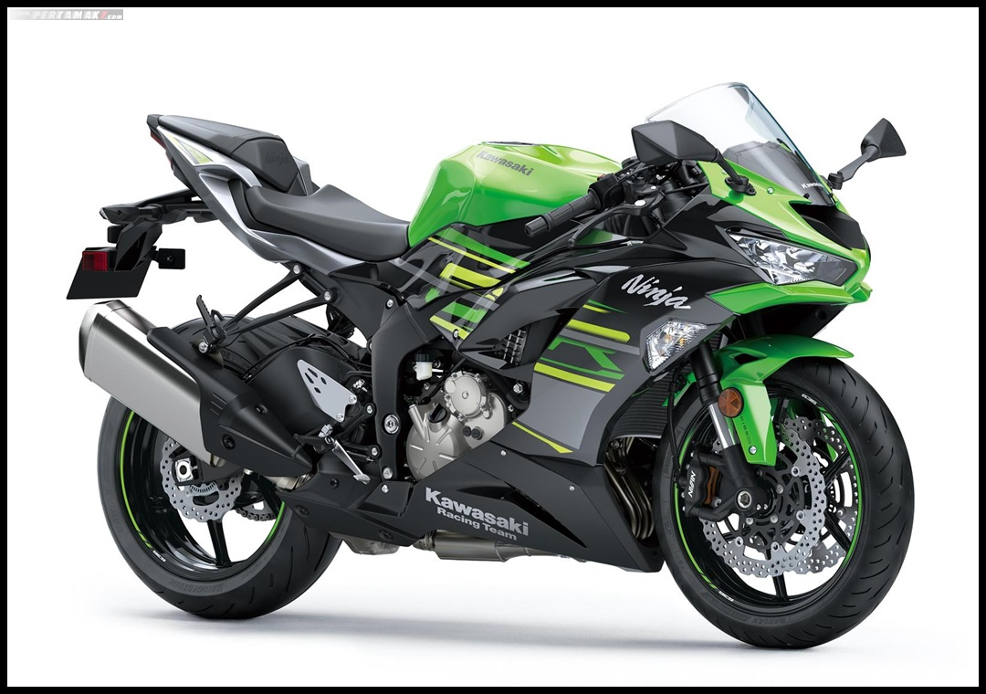 19ZX636G Kawasaki Ninja ZX6R 636 MY2019 Lime Green Ebony Metallic Graphite Gray P7