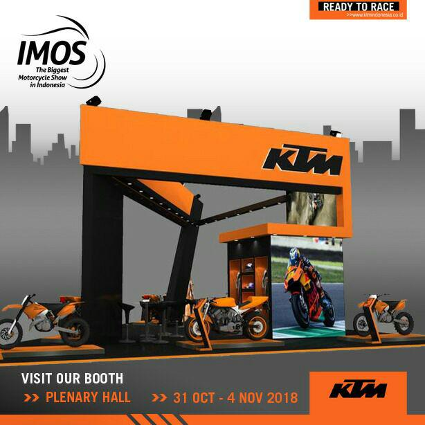 Booth KTM Indonesia All Out Ramaikan IMOS 2018