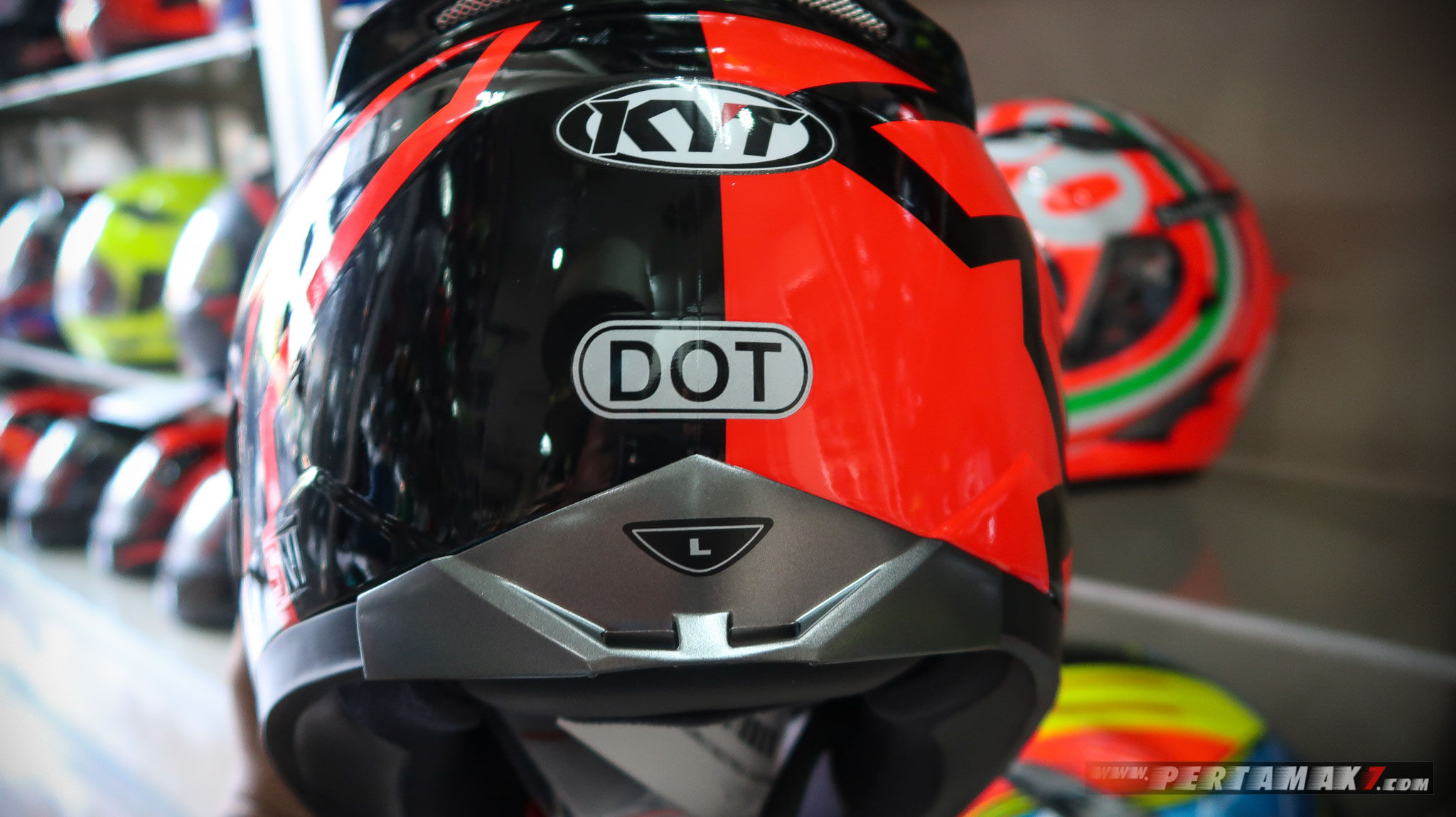 DOT helm KYT Falcon 2 Indonesia Pertamax7