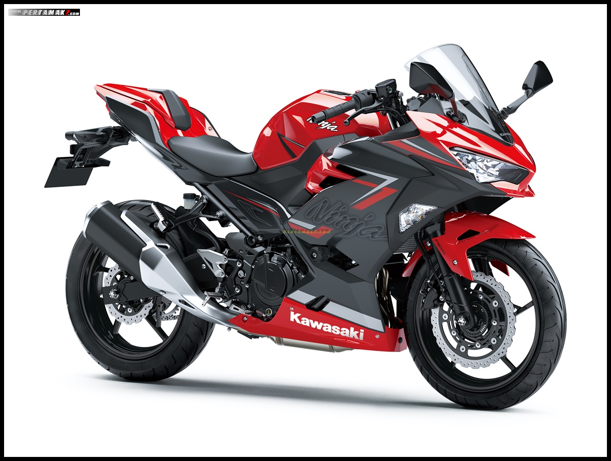 Kawasaki Ninja 250 ABS SE MDP warna Passion Red Metallic Dark Gray SmartKey