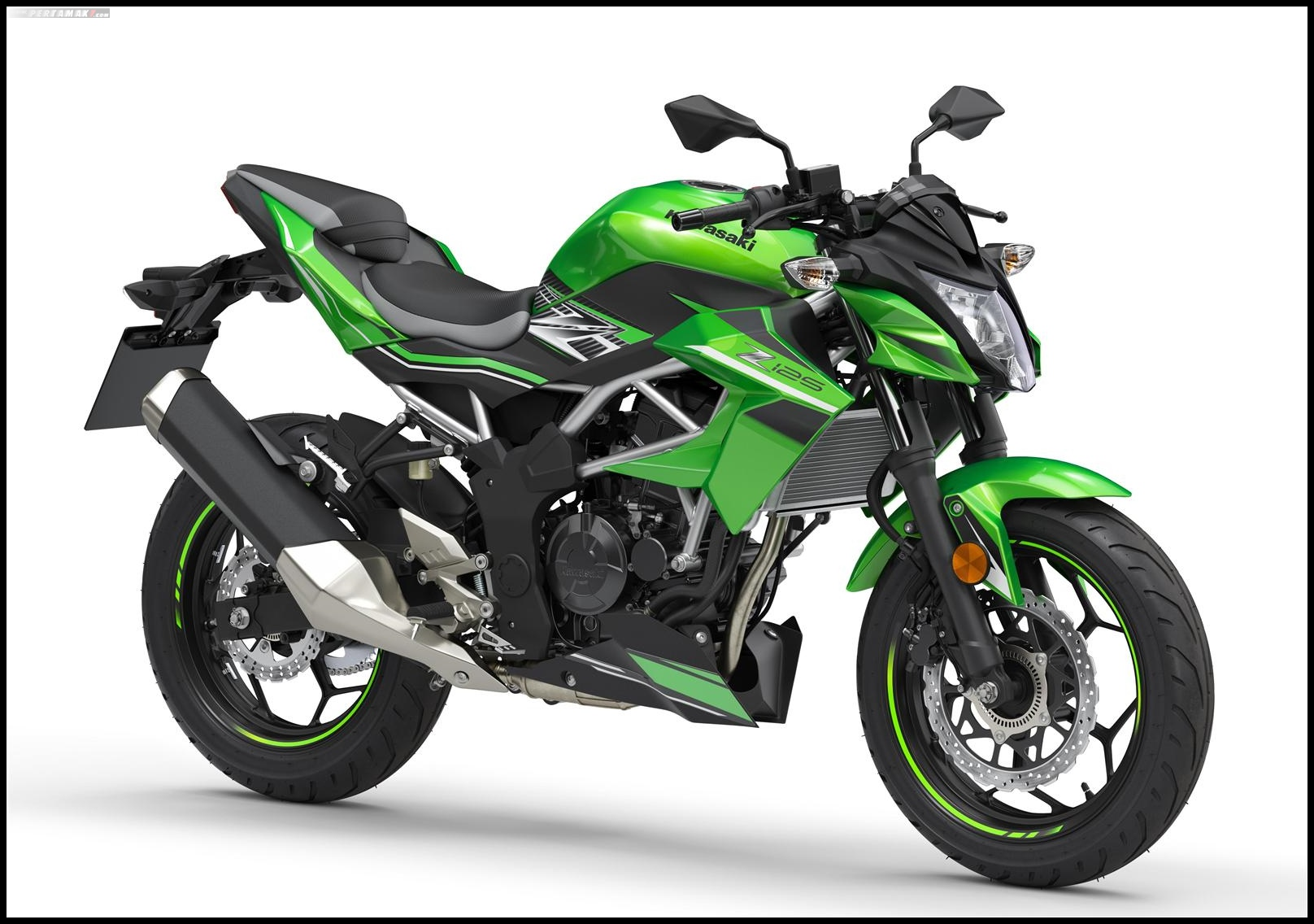 Kawasaki Z125 Warna HIjau Lime Green Ebony Metallic Graphite Gray