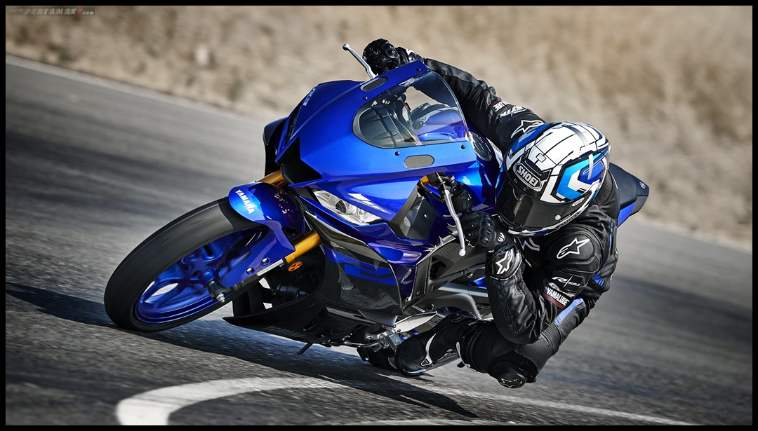 Knee Down Testride Yamaha New R3 Facelift 2019 Eropa P7