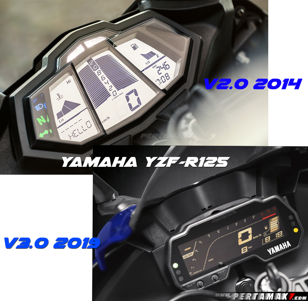 Speedometer Yamaha R125 MY2014 VS R125 MY2019
