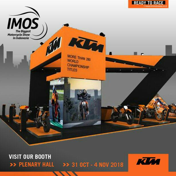 Stand KTM Indonesia All Out Ramaikan IMOS 2018