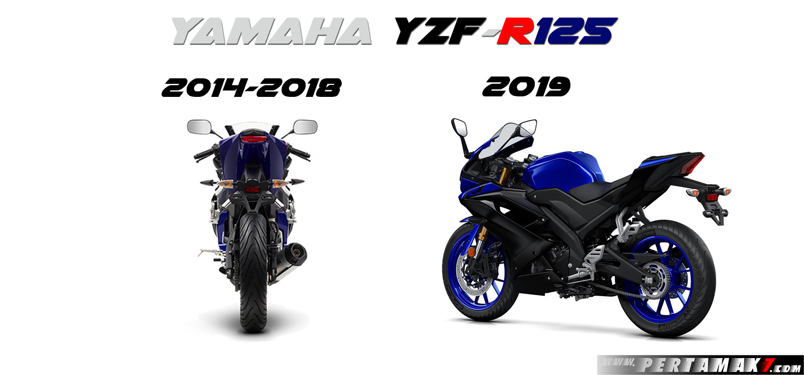 Yamaha R125 MY2014 VS R125 MY2019 Tailight