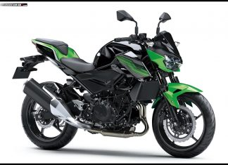Kawasaki Z400 Candy Lime green Metallic Spark Black P7